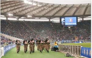 fanfara della Sezione allo Stadio Olimpico