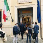 Visita al Museo di Porta Pia del Direttore di Repubblica Maurizio Molinari.