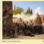 """150° """"Breccia""""di Porta Pia emissione speciale francobolli."""