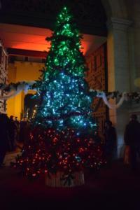 1 dic 2018 albero di Natale a Porta Pia
