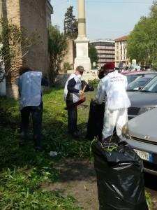 5 apr 2017 pulizia Breccia Porta Pia